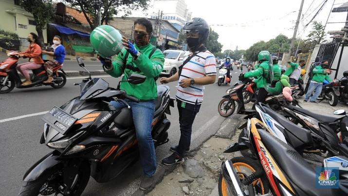 Ojek Online (CNBC Indonesia/Andrean Kristianto)