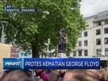Pendemo Inggris Robohkan Patung Pedagang Budak Edward Colston