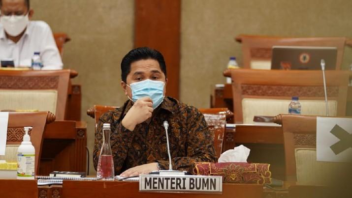 Menteri BUMN Erick Thohir hingga saat ini terus melakukan efisiensi di tubuh Kementerian BUMN. Salah satunya yang sudah berjalan, yaitu penyederhanaan jumlah BUMN.