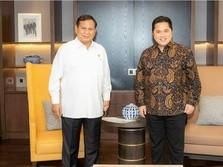 Prabowo Subianto Temui Erick Thohir, Bahas Apa?