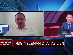 Terseret Pelemahan Bursa AS, IHSG Amblas Lebih dari 2,5%