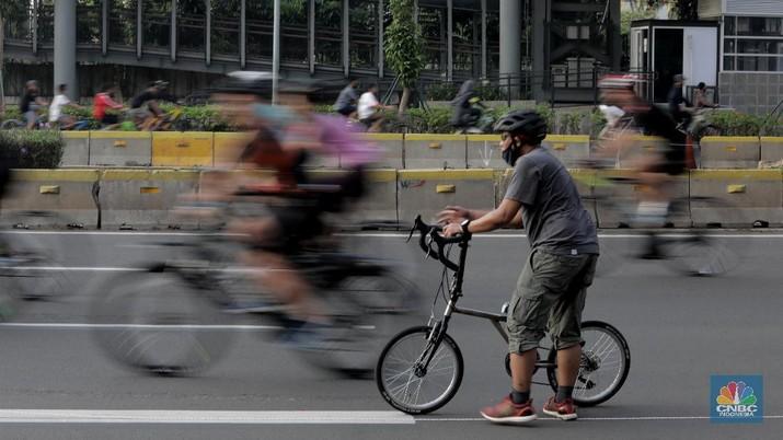 Pesepada di Car Free Day (CNBC Indonesia/Muhammad Sabki)