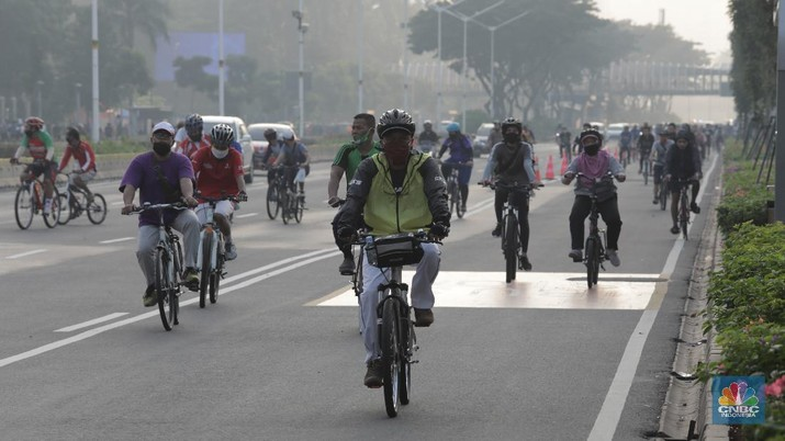 Pesepada di Car Free Day (CNBC Indonesia/Muhammad Sabki)