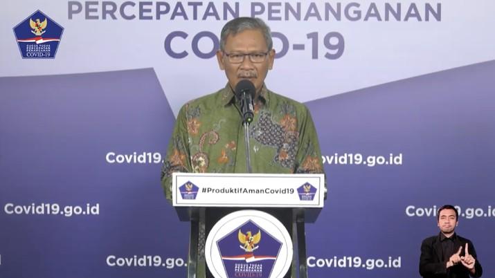 Juru Bicara Pemerintah untuk Covid-19 Achmad Yurianto (Youtube BNPB Indonesia)