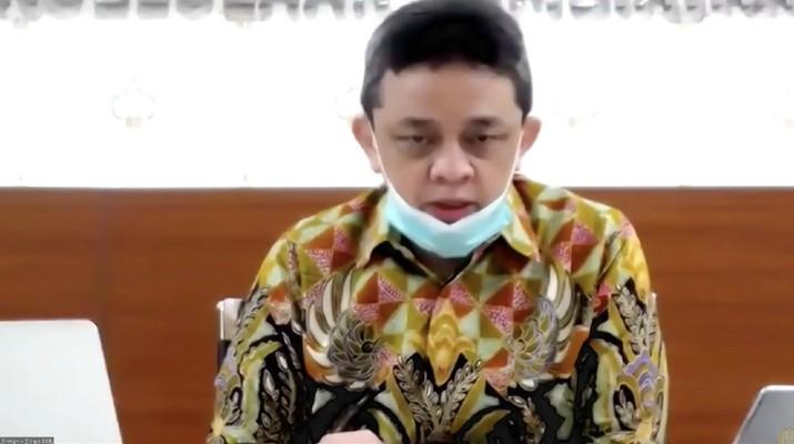 Direktur Jenderal Pengelolaan Pembiayaan dan Risiko, Luky Alfirman (Tangkapan Layar Youtube Kemenkeu RI)