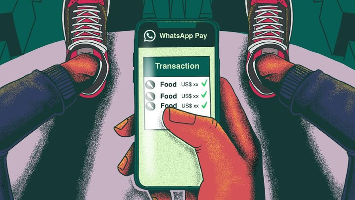 Infografis/sama mudahnya seperti kirim foto, Whatassap Payment resmi dirilis/Aristya Rahadian Krisabella