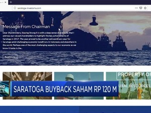 Saratoga Buyback Saham Senilai Rp 120 M