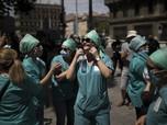 Ricuh Tuntut Kenaikan Gaji, Tenaga Medis di Prancis Ditangkap