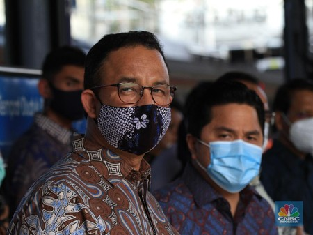 gubernur dki jakarta anies baswedan dan menteri bumn erick thohir cnbc indonesia tri susilo 43