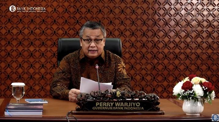 Gubernur Bank Indonesia Perry Warjiyo mengumumkan hasil rapat dewan gubernur Juni 2020 (Tangkapan Layar Youtube Bank Indonesia)