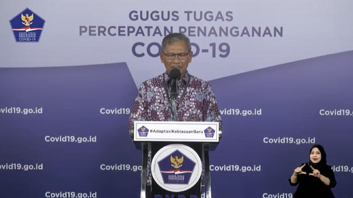 Juru Bicara Pemerintah untuk Covid-19 Achmad Yurianto (Tangkapan Layar Youtube BNPB Indonesia)