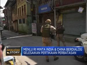 Menlu RI Minta India & China Berdialog Selesaikan Pertikaian