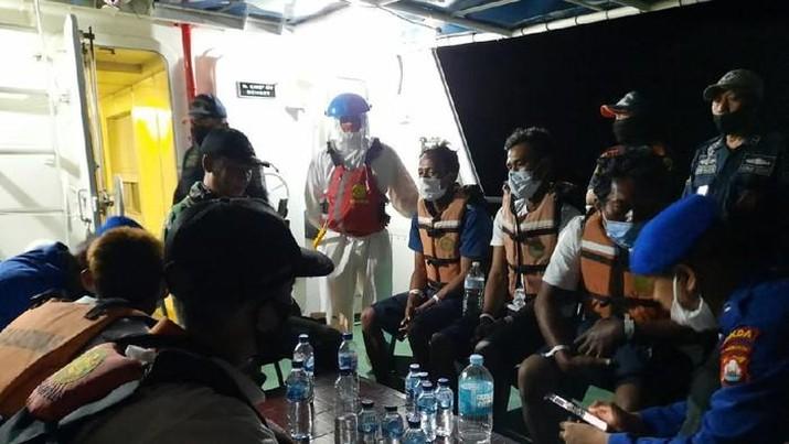 Kapal Nelayan Tenggelam di Selat Sunda. Ist
