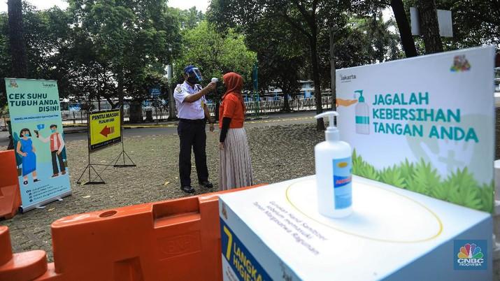 Taman Margasatwa Ragunan usai penutupan, Sabtu (20/6/2020). (CNBC Indonesia/ Andrean Kristianto)