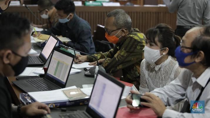 Sidang Kasus KSP Indosurya. CNBC Indonesia/Muhammad Sabki