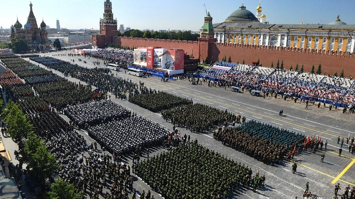 Rusia Gelar Parade Militer. AP/Dmitri Lovetsky