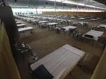 Tempat Tidur Kardus! Melihat RS Darurat Covid-19 di India