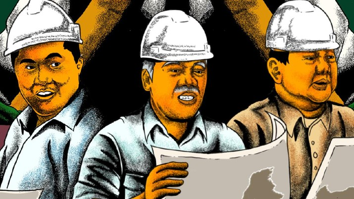 Infografis/ Jokowi Utus Prabowo, Erick & Basuki Keroyokan, Bikin Apa?/Aristya Rahadian