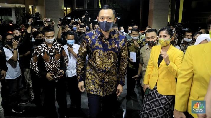 Ketua Umum Partai Demokrat, Agus Harimurti Yudhoyono. CNBC Indonesia/Andrean Kristianto.