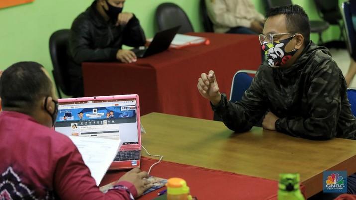 Pendaftaran PPDB DKI Jalur Zonasi. CNBC Indonesia/Andrean Kristianto