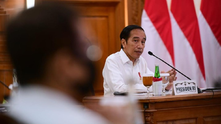Pengarahan Presiden RI Terkait Penanganan Covid-19 di Jawa Timur, Surabaya. Biro Pers Sekretariat Presiden