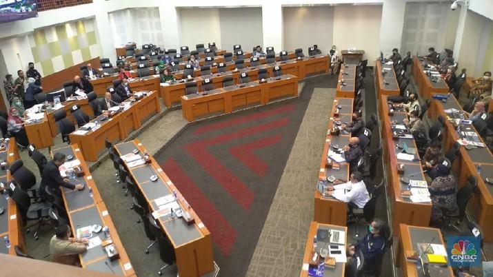 Rapat Badan Anggaran DPR. CNBC Indonesia/Cantika Dinda