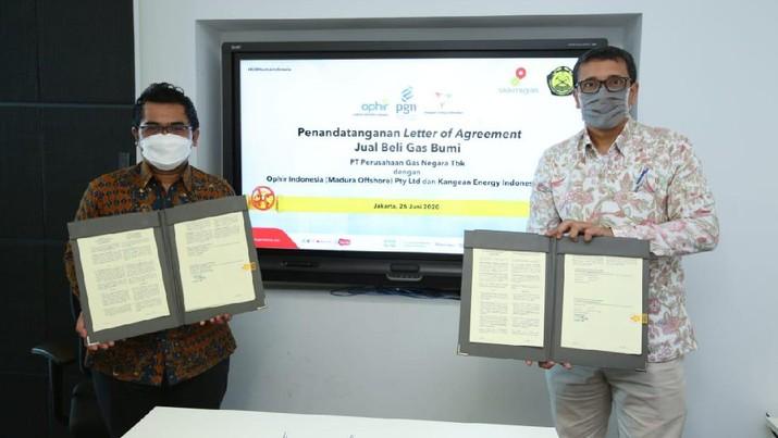 PGN Tandatanganani LoA Tahap Ketiga dengan Produsen Gas Bumi Implementasi Kepmen ESDM 89K/2020. Ist