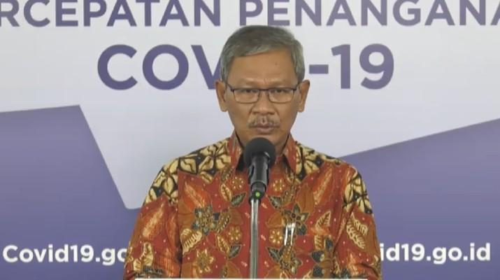 Achmad Yurianto selaku Juru Bicara Pemerintah Covid-19. (Dok: BNPB)