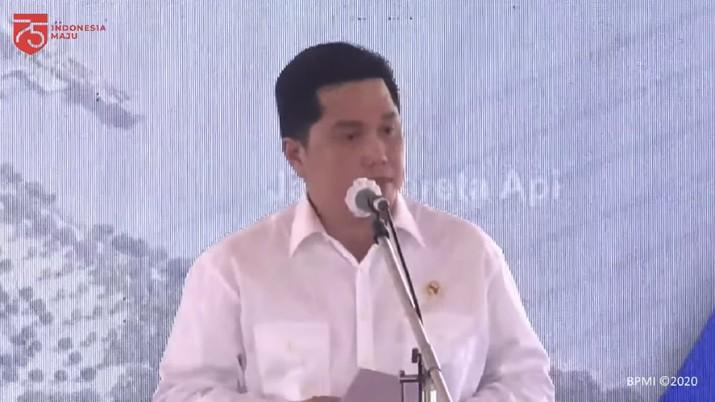 Erick thohir di Kawasan Industri Terpadu Batang, 30 Juni 2020 (BPMI 2020)