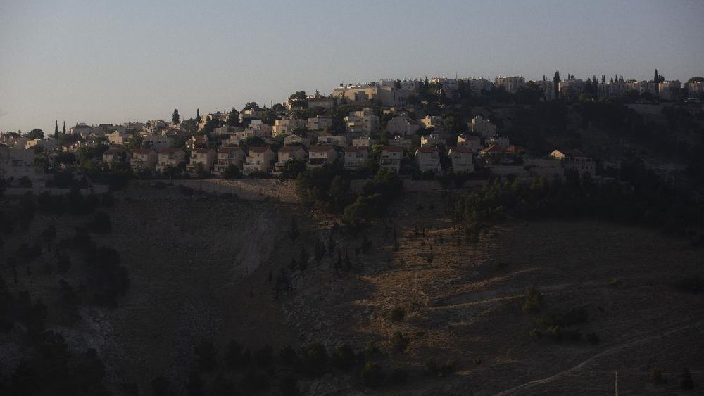 This Monday, June 29, 2020 photo shows the Israeli settlement of Maale Adumim, in the West Bank. The U.N.'s human rights chief Michelle Bachelet said that Israel's plan to begin annexing parts of the occupied West Bank would have