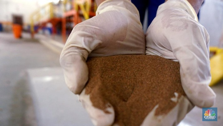 Rare earth element atau yang juga dikenal dengan sebutan logam tanah jarang (LTJ) . (CNBC Indonesia/Tri Susilo)