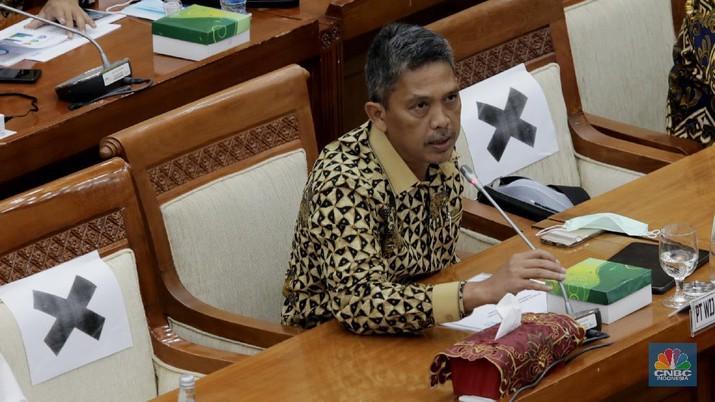 Direktur Utama Wijaya Karya (WIKA) Agung Budi Waskito (CNBC Indonesia/Tri Susilo)