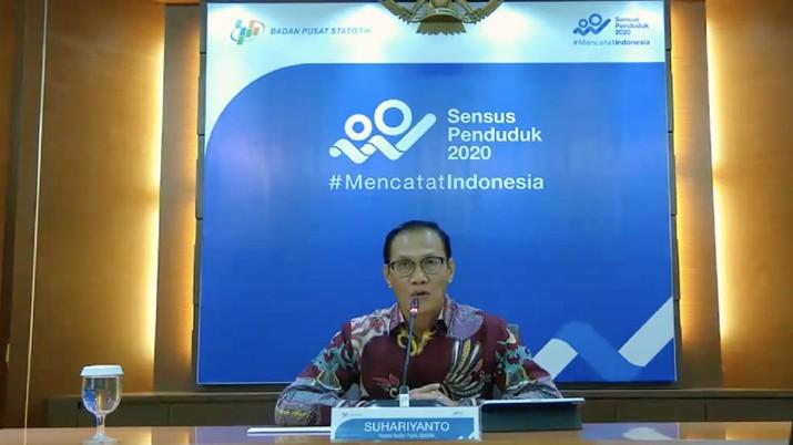 Kepala Badan Pusat Statistik (BPS) Suhariyanto mengumumkan Perkembangan Indeks Harga Konsumen/Inflasi Juni 2020, Perkembangan Indeks Harga Perdagangan Besar Juni 2020,  Perkembangan Nilai Tukar Petani dan Harga Produsen Gabah Juni 2020, dan Perkembangan Pariwisata dan Transportasi Nasional Mei 2020. (Screenshot BPS Statistics)