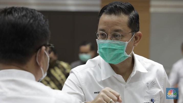 Menteri Sosial RI Juliari P. Batubara (CNBC Indonesia/Tri Susilo)