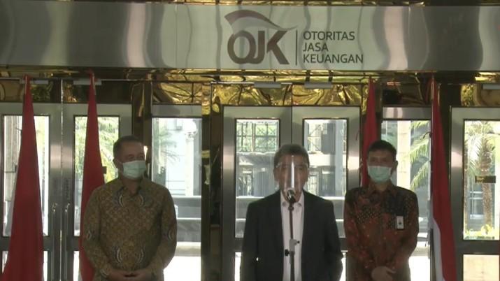 Sunarso Direktur Utama BRI saat memberi keterangan PERS Rapat Koordinasi OJK Dengan HIMBARA Sebagai Tindak Lanjut PMK 70/2020