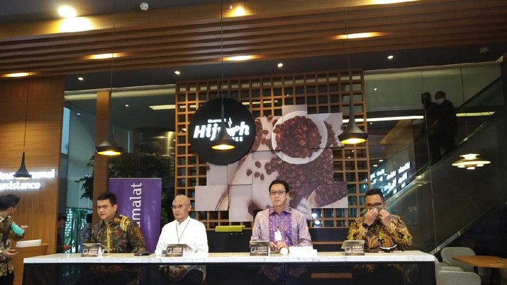 Bank Muamalat dukung gerakan haji Muda BPKH. Konferensi pers di Gedung Bank Muamalat, Jakarta, Kamis (2/7/2020). CNBC Indonesia/Yuni Astutik