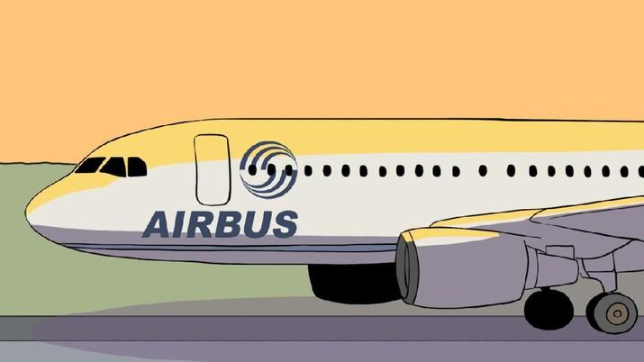 INFOGRAFIS, Airbus PHK 15.000 Karyawan Karena Corona