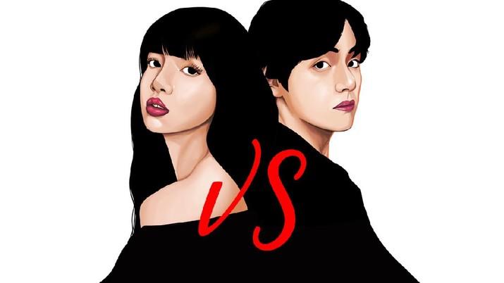 INFOGRAFIS, BTS vs Blackpink
