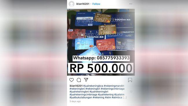 Kacau Rekening Bank Dijual Di Tokopedia Sampai Shopee