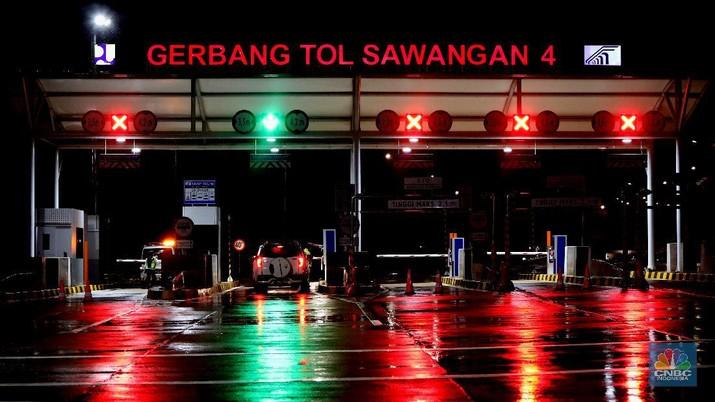Gerbang Tol Sawangan 4 (CNBC Indonesia/Andrean Kristianto)