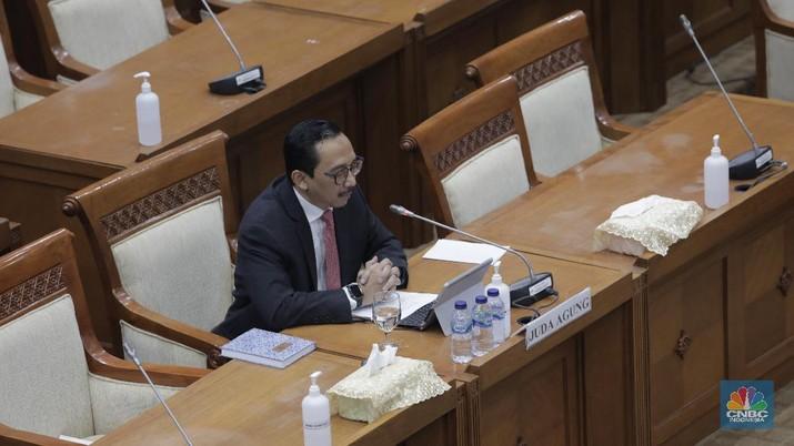 Fit and proper test, Juda Agung (CNBC Indonesia/ Tri Susilo)