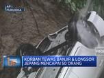 Korban Tewas Banjir & Longsor Jepang Mencapai 50 Orang