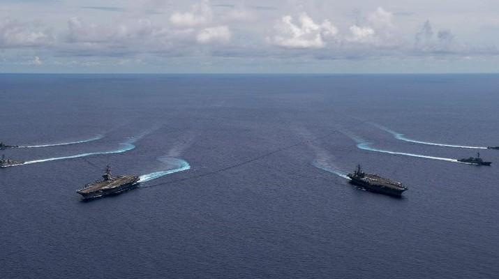 Militer AS di Laut Cina Selatan (Tangkapan layar twitter @USPacificFleet)