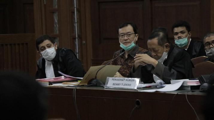 Benny Tjokrosaputro Jalani Sidang Jiwasraya (CNBC Indonesia/ Tri Susilo)