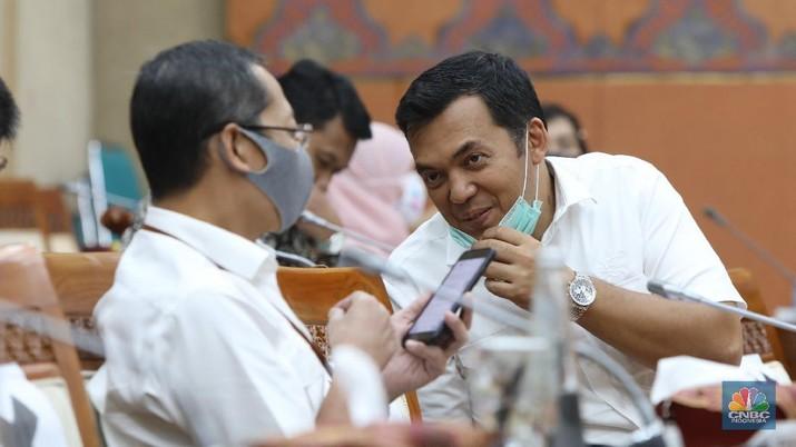 Direktur Utama PT Krakatau Steel Silmy Karim (CNBC Indonesia/ Muhammad Sabki)