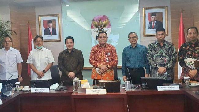 GIAA KAEF KRAS Erick Thohir Sowan ke KPK, Saham Garuda, KRAS & KAEF Melesat!