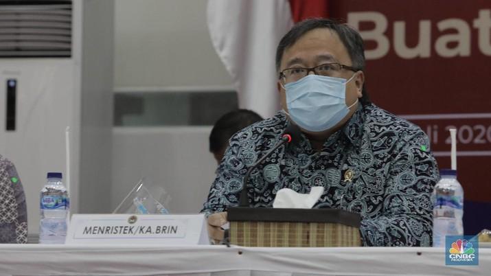 Menteri Riset dan Teknologi/Kepala Badan Riset dan Inovasi Nasional (Menristek/BRIN) Bambang Brodjonegoro (CNBC Indonesia/ Tri Susilo)