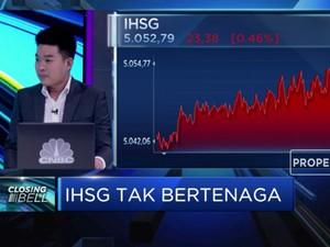 Pasar Khawatirkan PDB RI, IHSG Ditutup di Zona Merah
