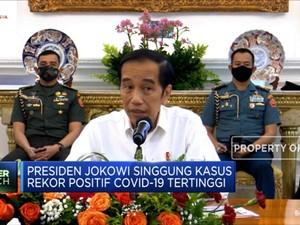 Jokowi Kembali Sentil Rekor Kasus Positif Corona di RI