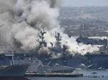 Kapal Perang AS Meledak, 21 Orang Luka
